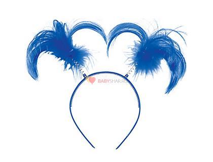 Ободок-антенки Хвостики синие