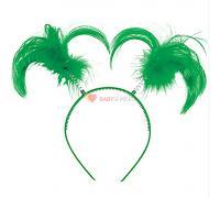 Ободок-антенки Хвостики зеленые