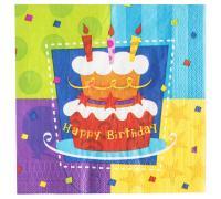 Салфетки Торт Birthday