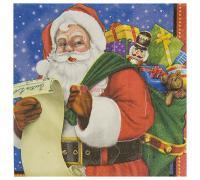 Салфетки большие Санта