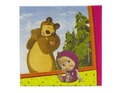 Салфетки малые Маша и Медведь