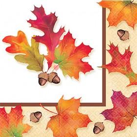Салфетки малые Осенние листья