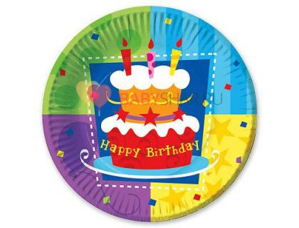 Тарелка бум Торт Birthday