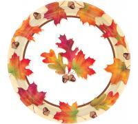 Тарелки большие Осенние листья