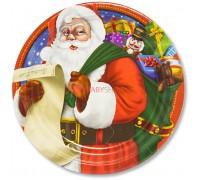 Тарелки большие Санта