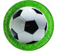 Тарелки Футбол зеленый газон