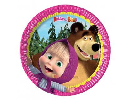 Тарелки малые Маша и Медведь