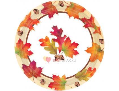 Тарелки малые Осенние листья