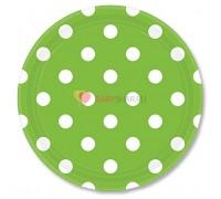 Тарелки Зеленые Киви Горошек