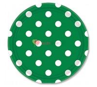 Тарелки Зеленый Изумруд Горошек