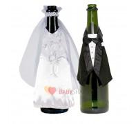 Украшение для бутылок свадебное