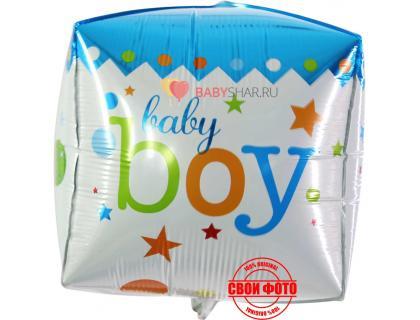 Фигура 3d куба baby boy для мальчика на выписку