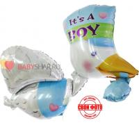 Фольгированный шар Аист для мальчика