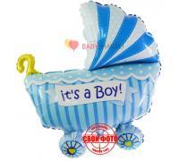 Коляска для мальчика голубенькая It`s a boy