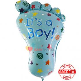 Фигура стопы для мальчика голубая шар
