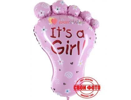Фигура стопа для девочки розовая