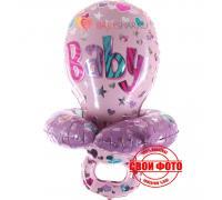 Фольгированный шар розовая соска для девочки