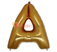 Шар-фигура (101 см) буква А Gold