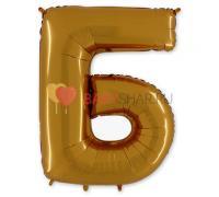 Шар-фигура (101 см) буква Б Gold