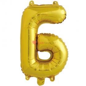 Шар с клапаном (41 см) Буква, Б, Золото