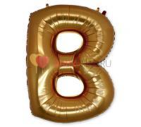Шар-фигура (101 см) буква В Gold