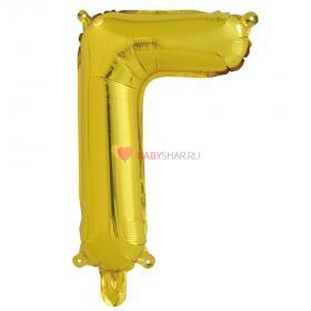 Шар с клапаном (41 см) Буква, Г, Золото
