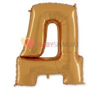 Шар-фигура (101 см) буква Д Gold
