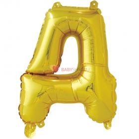 Шар с клапаном (41 см) Буква, Д, Золото
