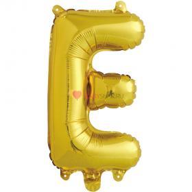 Шар с клапаном (41 см) Буква, Е, Золото