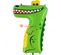 Шар цифра 7 (91 см) Крокодил