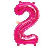 Шар-фигура Цифра 2 Розовая