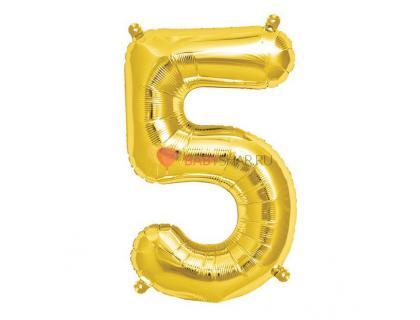Шар фигура цифра 5 Gold