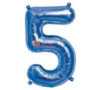 Шар-фигура Цифра 5 Синяя