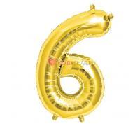 Шар фигура цифра 6 Gold