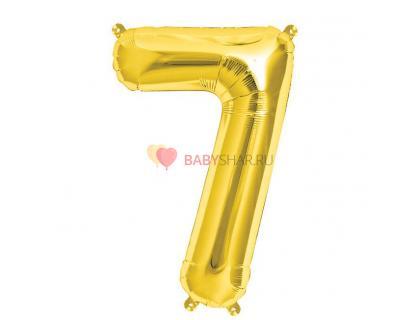 Шар фигура цифра 7 Gold