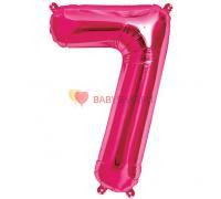 Шар-фигура Цифра 7 Розовая