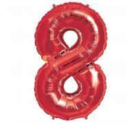 Шар фигура цифра 8 Красная