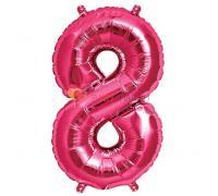 Шар-фигура Цифра 8 Розовая