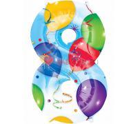 Шар фигура Цифра 8 с рисунком шаров