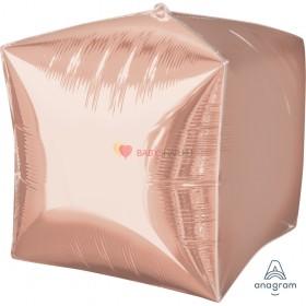 """Фольгированный куб 15"""" Розовое Золото"""