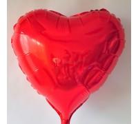 """Фольгированный шар 18"""" Сердце красное"""