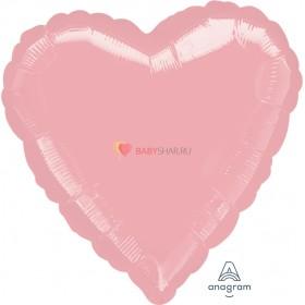 """Фольгированный шар 18"""" Сердце пастель розовое"""