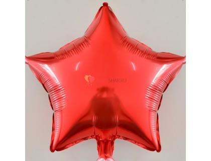 """Фольгированный шар 18"""" Звезда красная"""
