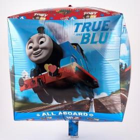 Фольгированный шар Куб паровозик Томас