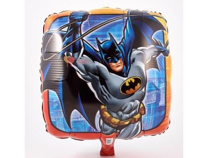 Фольгированный шар квадрат с Бэтменом