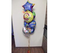 Фонтан с шарами С Днём Рождения
