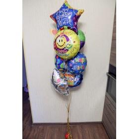 Букет из фольгированных шаров на День Рождения