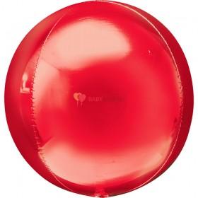 Шар 3D СФЕРА без рисунка Металлик Red (43 см)