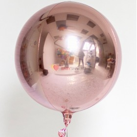 Шар 3D СФЕРА без рисунка Розовая (43 см)