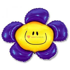 Шар фигура Цветок фиолетовый